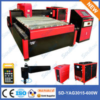 hot sale yag laser metal cutting machine for hardware product 1500X3000