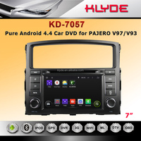 klyde directly selling android 4.4.2 touch screen car dvd for pajero with gps built in wifi bluetooth video atv