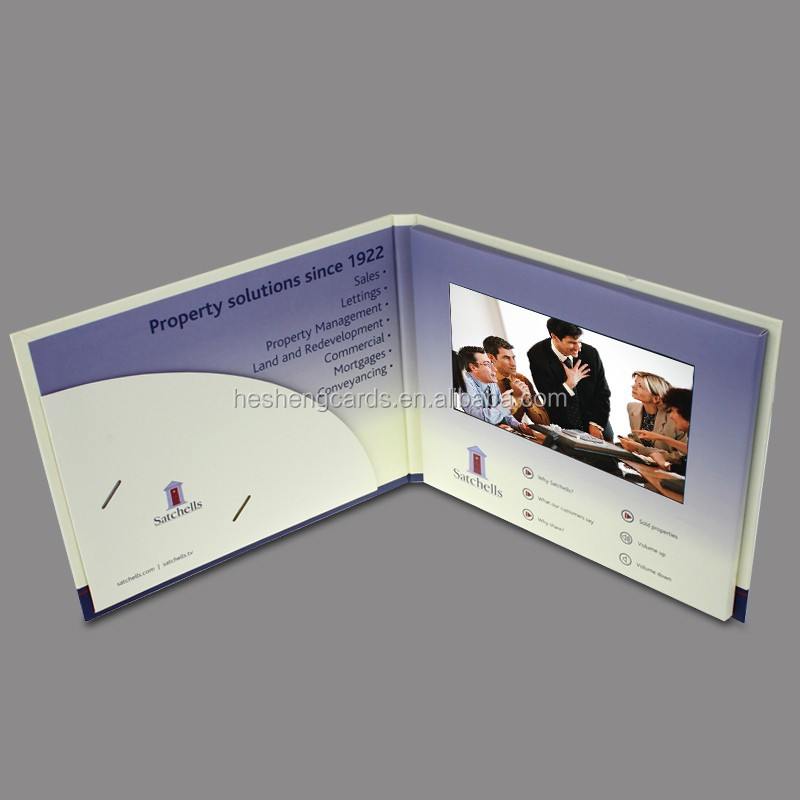 Creative idea item lcd video player postcards