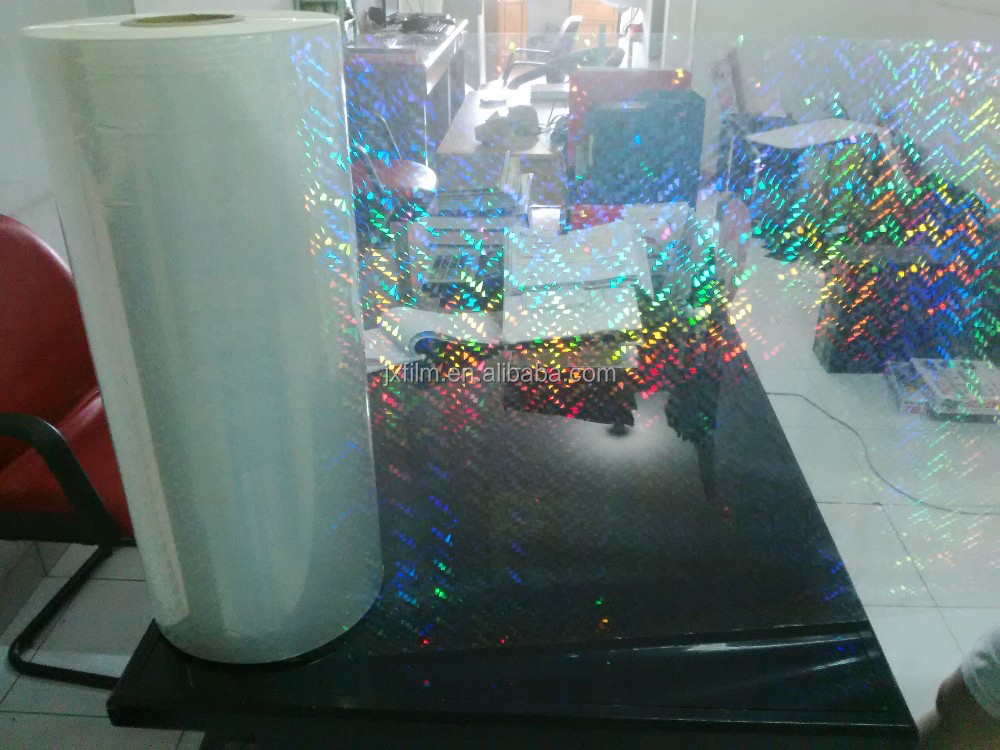 bopp film transparent holographic vinyl Plastic film