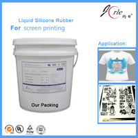 Solution screen printing liquid silicone rubber for textile products
