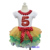 Rainbow Petal Pettiskirt with Bling Red Number 1 2 6 4 5 6 White Short Sleeves Top