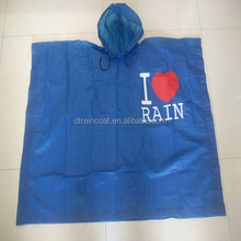 Customized Logo Printed Plastic Disposable Transparent poncho Raincoat