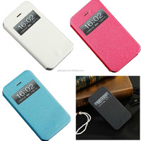 Slim Thin View Window Shell PU Leather Case Flip Cover Shockproof Holster For iphone 5SE