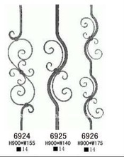 wrought iron stair railing parts