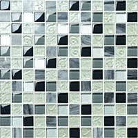 Crystal and stone mosaic wall tile of bathroom (MC23032)