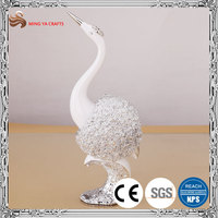 precisely design resin figurine in crane shape for home furnituring display