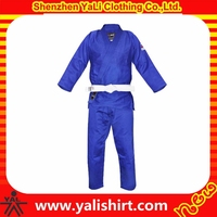 Custom good quality quick dry solid color cotton/polyester sportswear men judo clothing