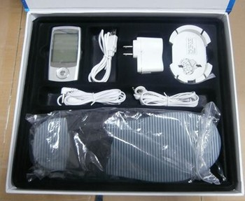 Portable electrical muscle stimulator slipper combo suit
