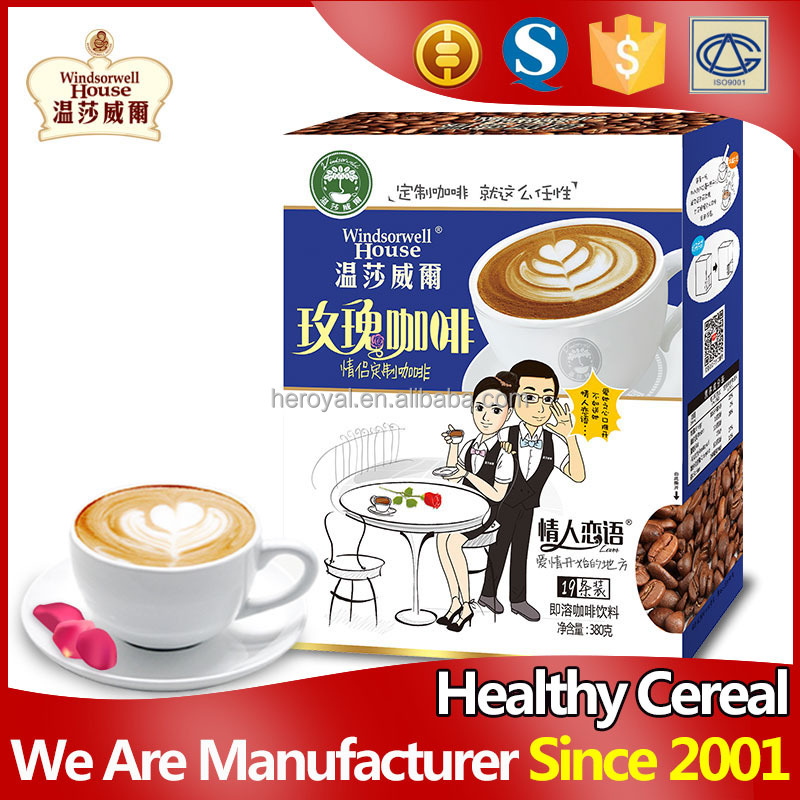 2016 romantic rose instant chinese slimming coffee
