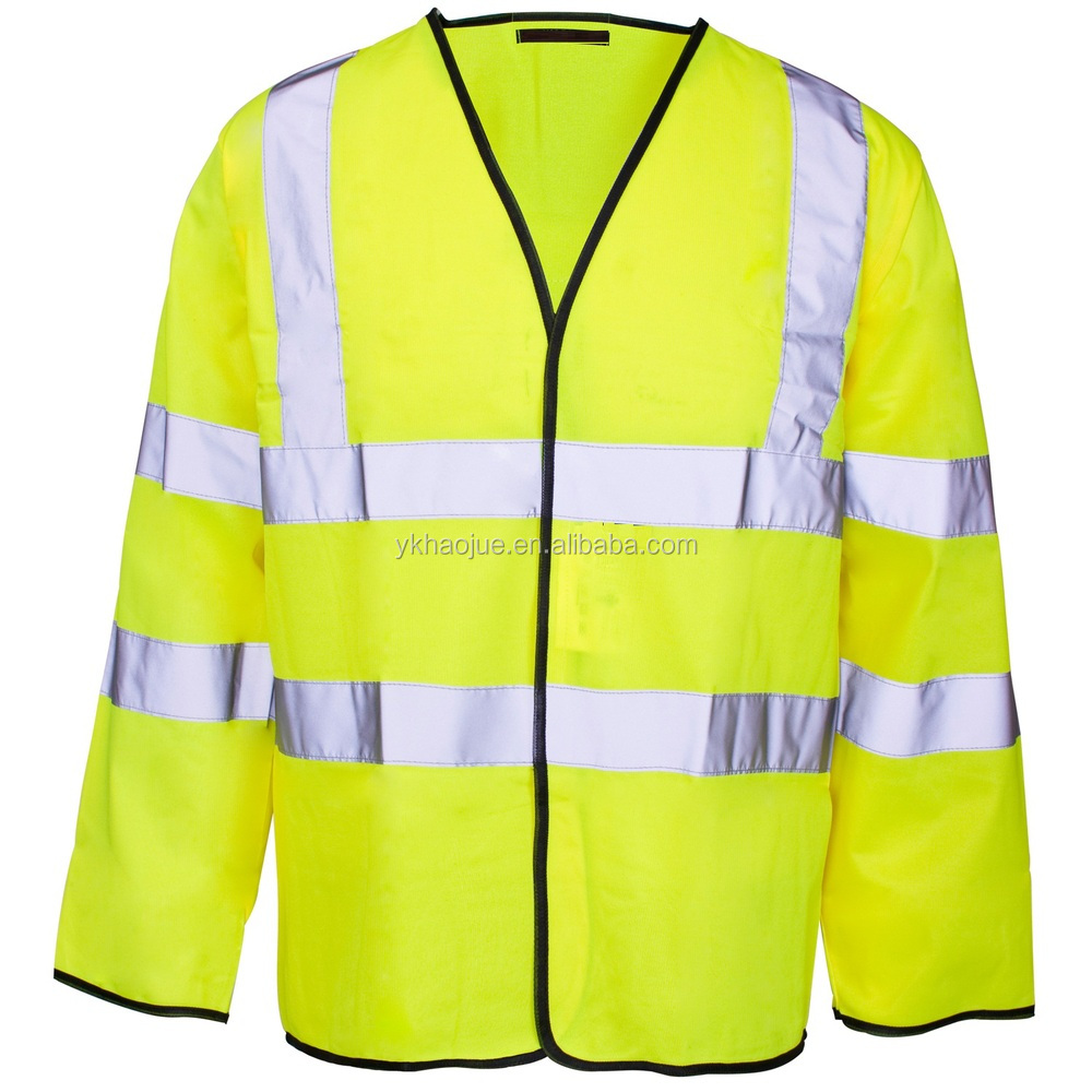 security jackets with reflective tape safety vest long sleeves
