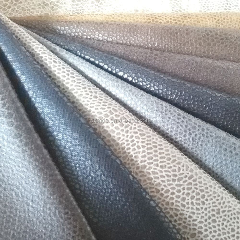 Hot stamping Sofa Fabric/ Upholstery Fabric/ Snake Polyester Suede