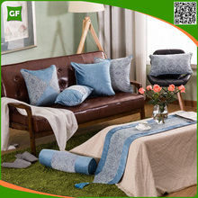 Luxury Blue Stitching Chenille Cushion Cover Fashion High Quality Exquisite Cushion Cover Decorative Home Pillow Case