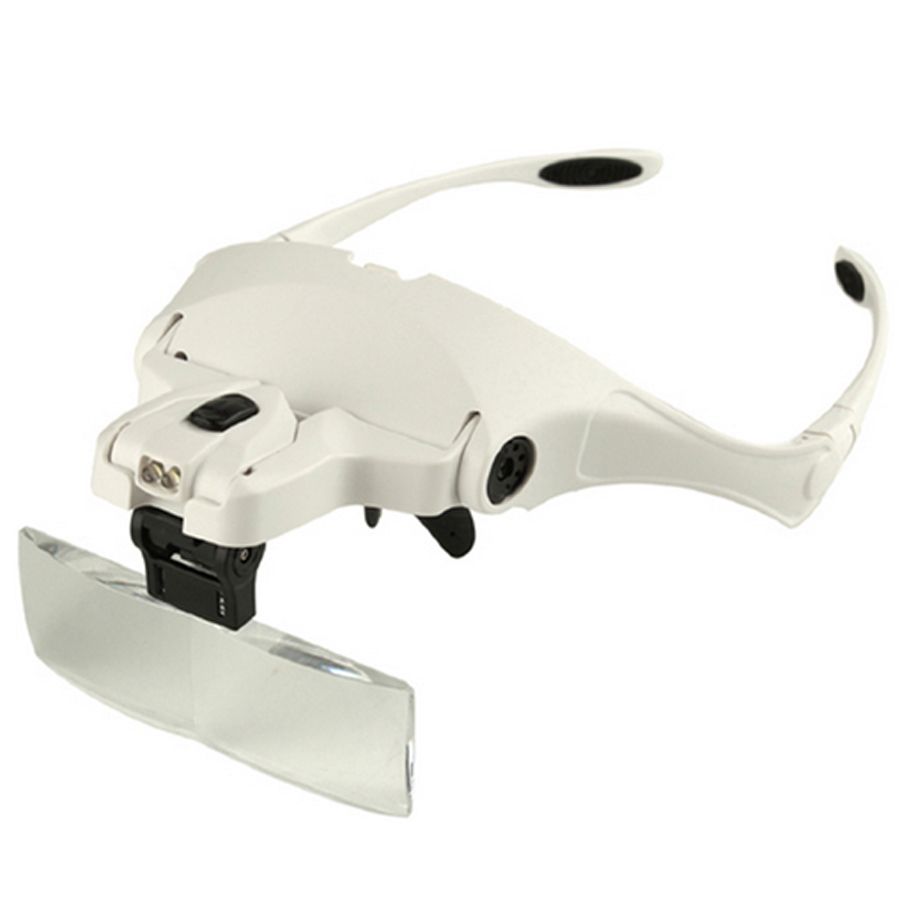 permanent makeup Accessories Hot selling Headhand Led Lamp With Magnifier for makeup/tattoo/grafting eyelash