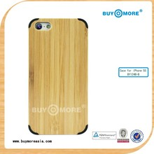 mobile phone bamboo case for iphone 5/5s paypal is accepted
