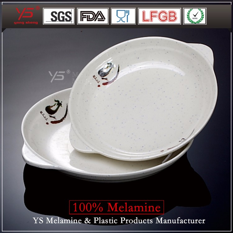 Top selling SGS certified imitation ceramics restaurant plates with logo