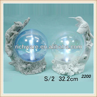 Resin religious indoor animal solar light with ball