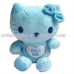 Cute Stuffed japanese blue cat plush kitty toys doll for crane machines