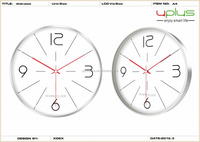 2016 design simple style dial 12 inch aluminum wall clock for decoration