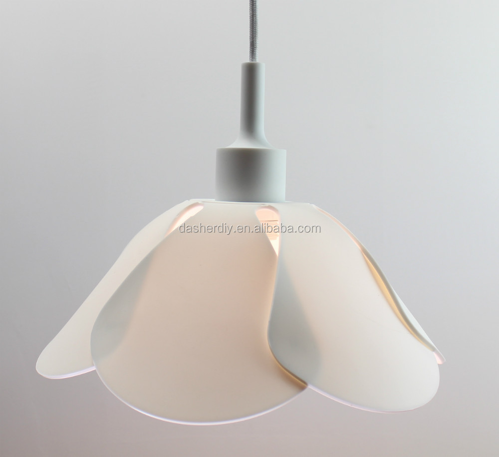 Modern Colorful Silicone Pendant Lamp Fabric Lamp Shade