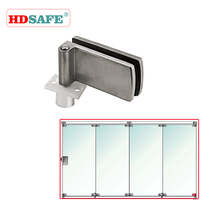Sliding folding door of lower fixing clip for glass partition