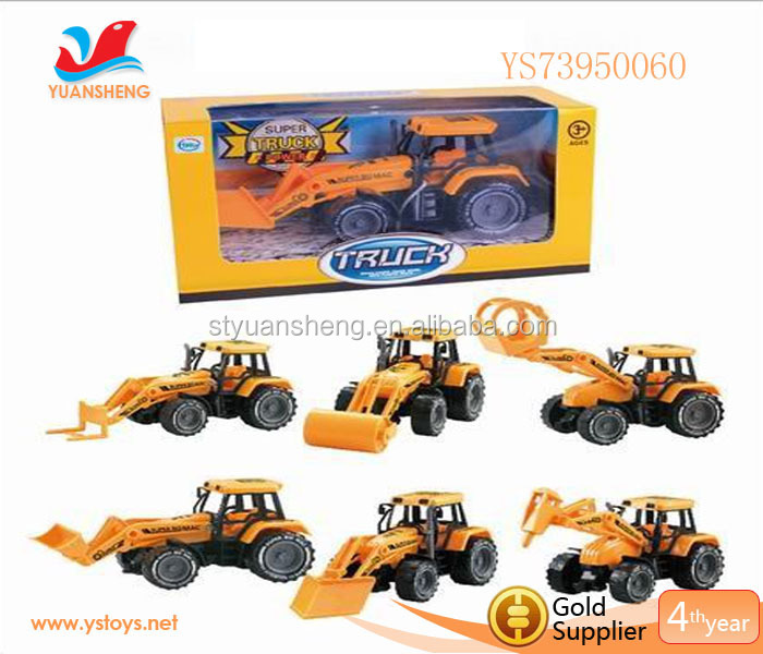 Novel Design Friction Farm Tractor Plastic Toys Car Miniature Model Truck