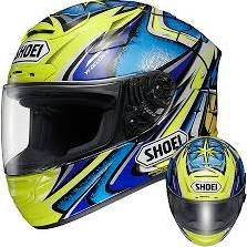 SparX S-07 Full-Face Motorcycle Helmet - Crank Blue TR