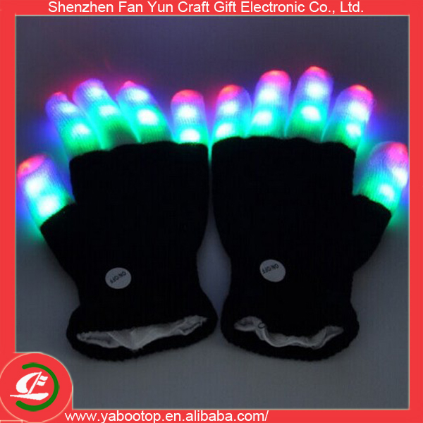 Cute LED Flashing Magic Gloves for Birthday Gift