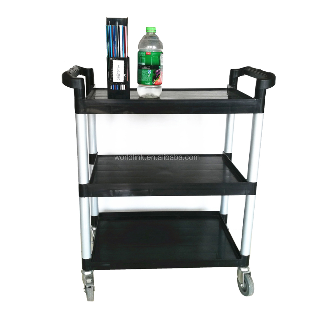 WL-032A Plastic Serving Clearing Hotel PP 3 Layers Carts