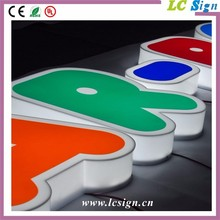 outdoor vacuum forming acrylic light signage box/advertising signboard letter