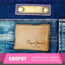 Faux Jeans PU Leather Labels Custom Embossed for jeans, Jeans Labels