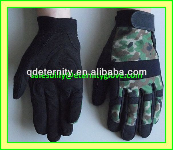 Popular style mechanical glove,synthetic leather mechanics glove, Contact Billy for Price