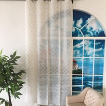 2018 latest design Best Price 100%polyester window Curtain For Livingroom