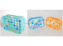 Hot nice design silkscreen printing clear PVC cosmetic gift bag