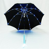 2015 Promotion Led Light Umbrella Advertisement Led Umbrella,Handle Led Light Umbrella