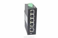 Seamlessly 5 Port 10/100Mbps unmanaged Din-Rail network ethernet industrial switch 24V industrial