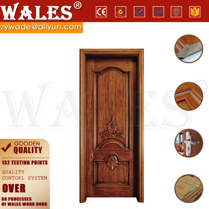 Euro country style plain mahogany cheap used interior solid wood door