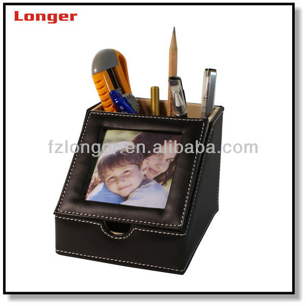 best selling products 2014 pencil cup holder,custom made desk leather pen holder