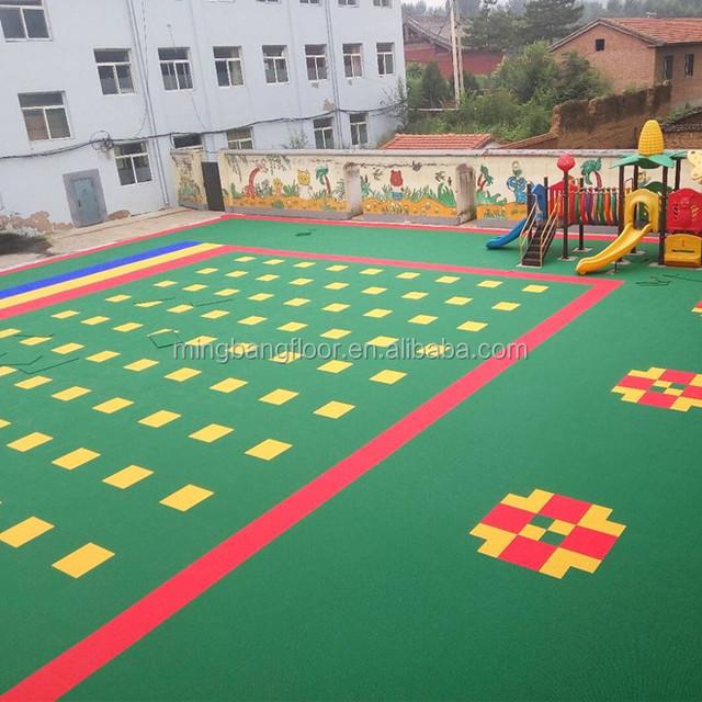 outdoor basketball court flooring badminton court surface hot sale interlocking plastic floor tiles