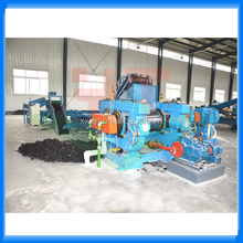 Manual operated waste tire recycling machine