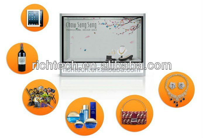 3d transparent outdoor advertising lcd display
