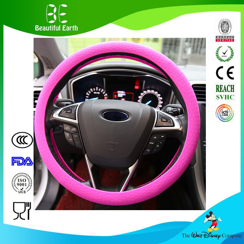 Silicone Steering Wheel Cover Auto Car Decorates Steering Wheel Case