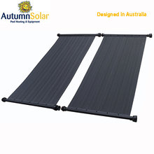 Solar pool flat panel with high efficiency