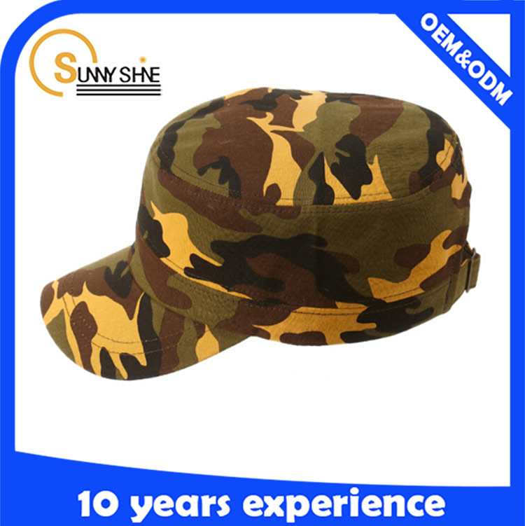 Custom army cap camouflage military cap style hats and caps