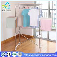 No tools assemble steel portable clothes rack