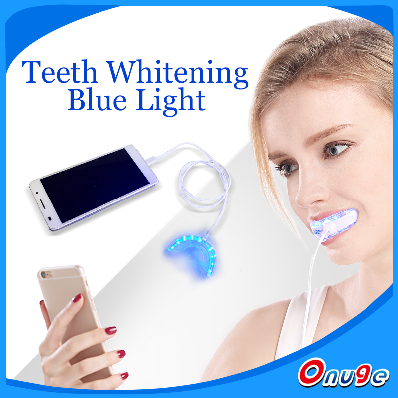 New product teeth whitening led with transparent and soft tooth tray,blue cold white light