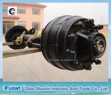 For lifting the truck American type 127mm black axles trailer for sale