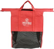 cheapest foldable reusable Cart 4color Trolley non woven Shopping bag for supermarket