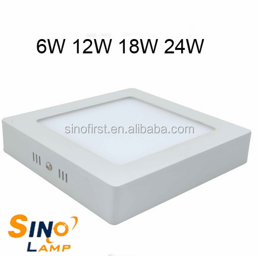 square led panel light 12W, surface mounted led ceiling panel lamp , round & square led panel lighting