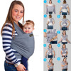 Cotton spandex wrap baby carrier with various solid color